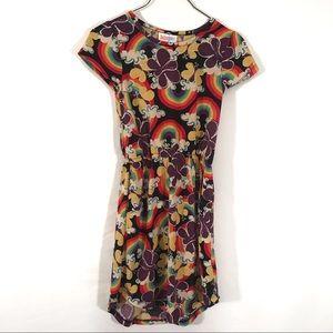 NWOT LulaRoe Girls Mae rainbow dress
